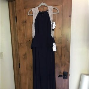 Exscape Beautiful Dark Navy Gown Size 6
